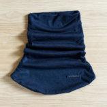 Tour de cou en laine mérinos noire lady harberton unisexe made in france