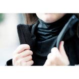 cache cou en laine mérinos noire lady harberton femme