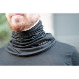 Tour de cou en laine mérinos noire lady harberton homme made in france