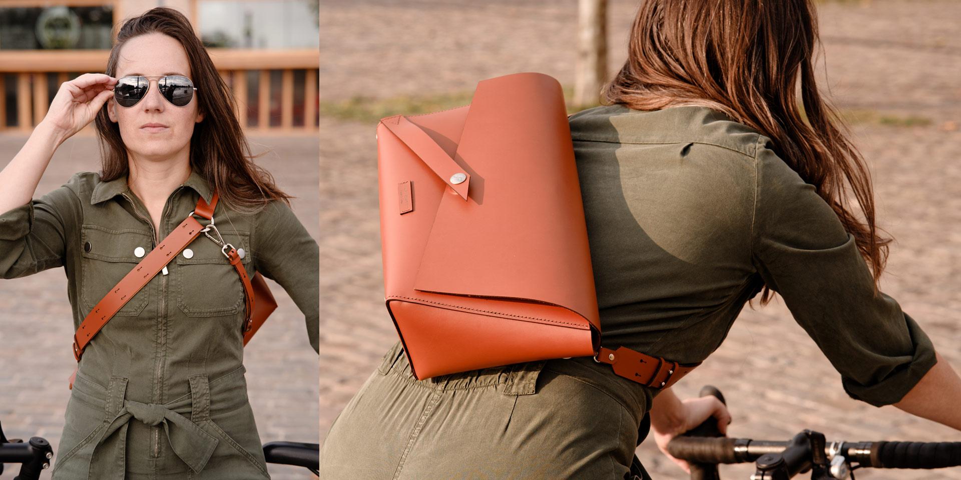 sac messenger camel sac de coursier à vélo élégant pour femmes à vélo Lady Harberton